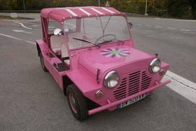 location Mini Moke rose